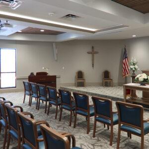 Chapel inside Friendship Village St Louis