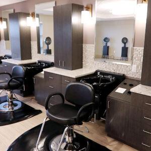 Salon inside Friendship Village St Louis