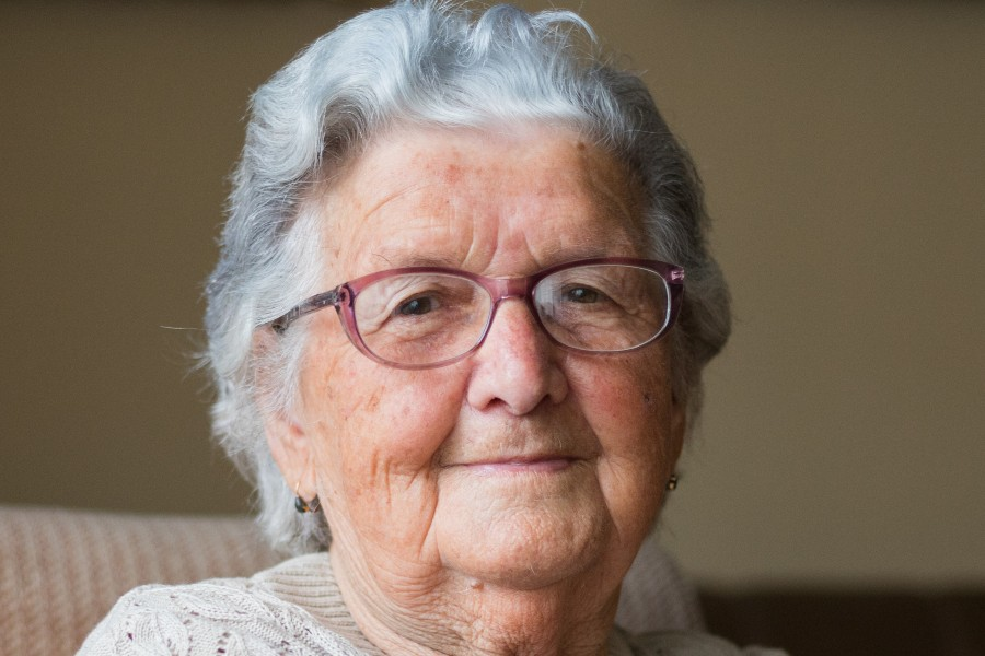 Senior woman posing for a picture