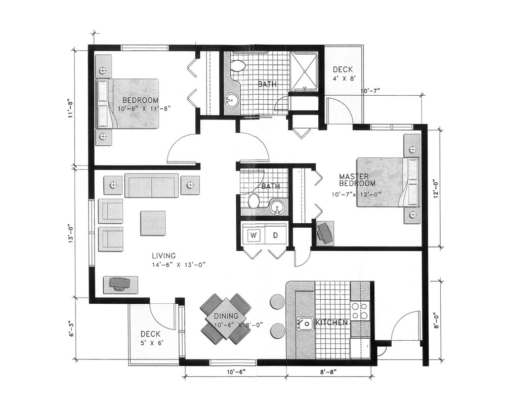 Two Bedroom/Two Bath 986 sq. ft. $267,520 Entry Fee, $3,513/Month