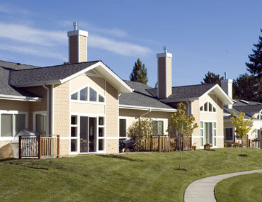 An exterior photo of the Meadow Way senior living homes at Friendsview