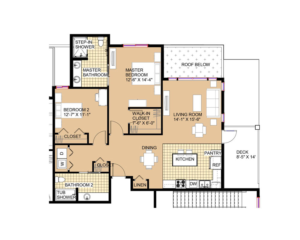 Barclay 1,235 sq. ft. $300,355 Entry Fee, $2,029/Month