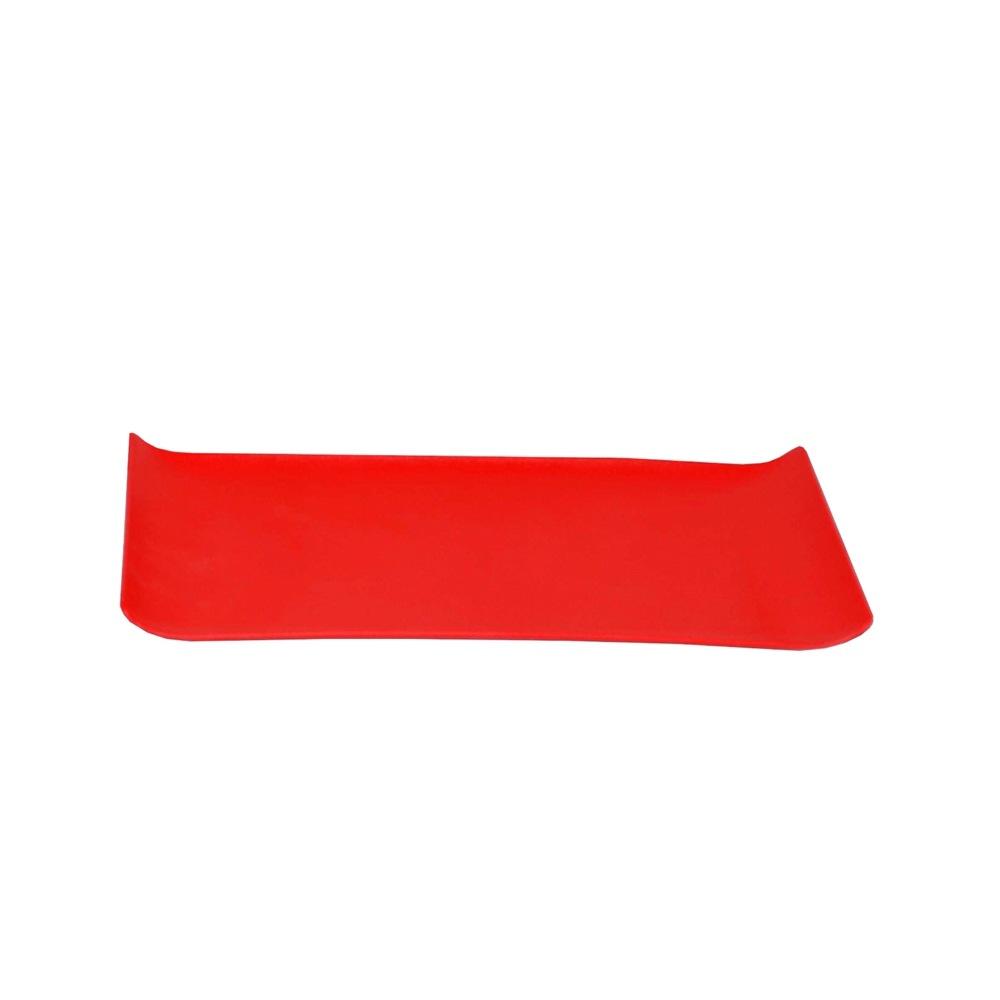 Bandeja 15 x 30 cm Vermelha de Policarbonato Coffee Vemplast