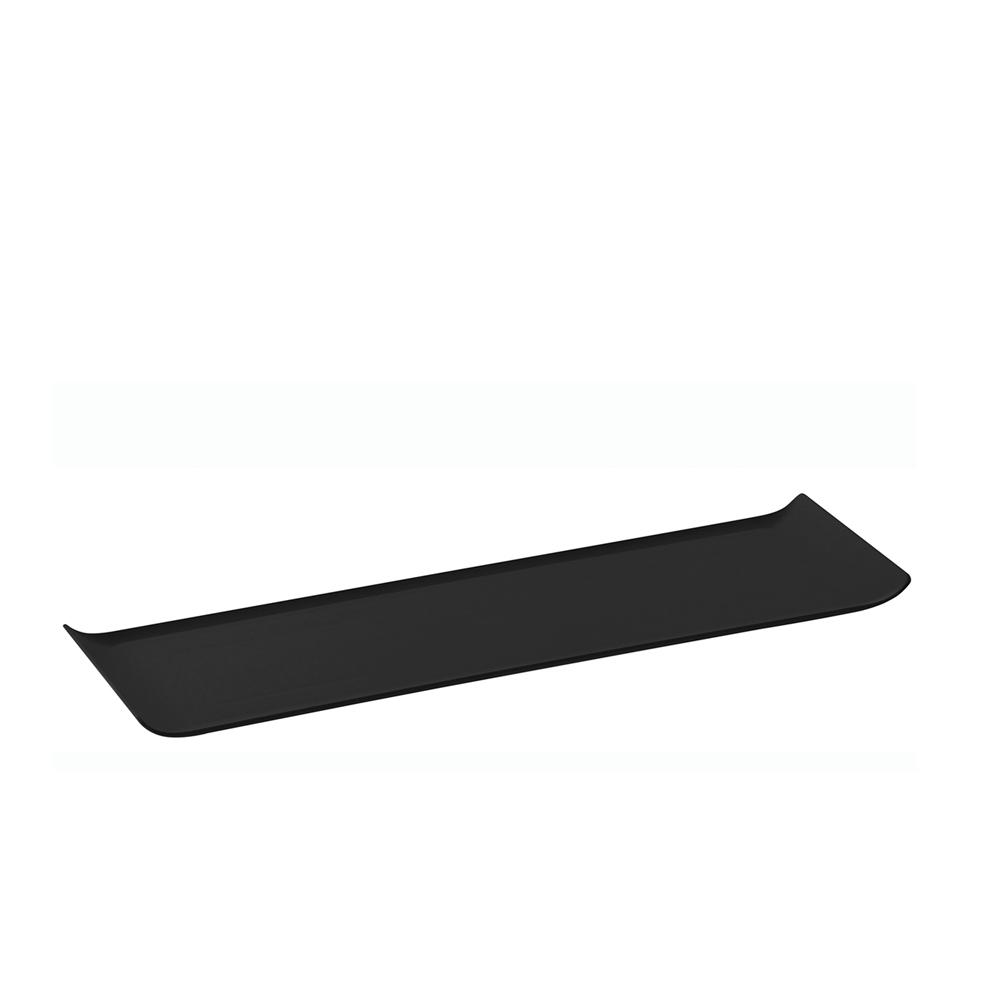 Bandeja 15x50 cm de Policarbonato Preta Vemplast