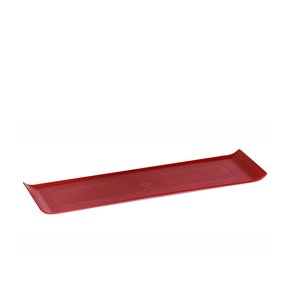 Bandeja 15x50 cm de Policarbonato Vermelha Vemplast