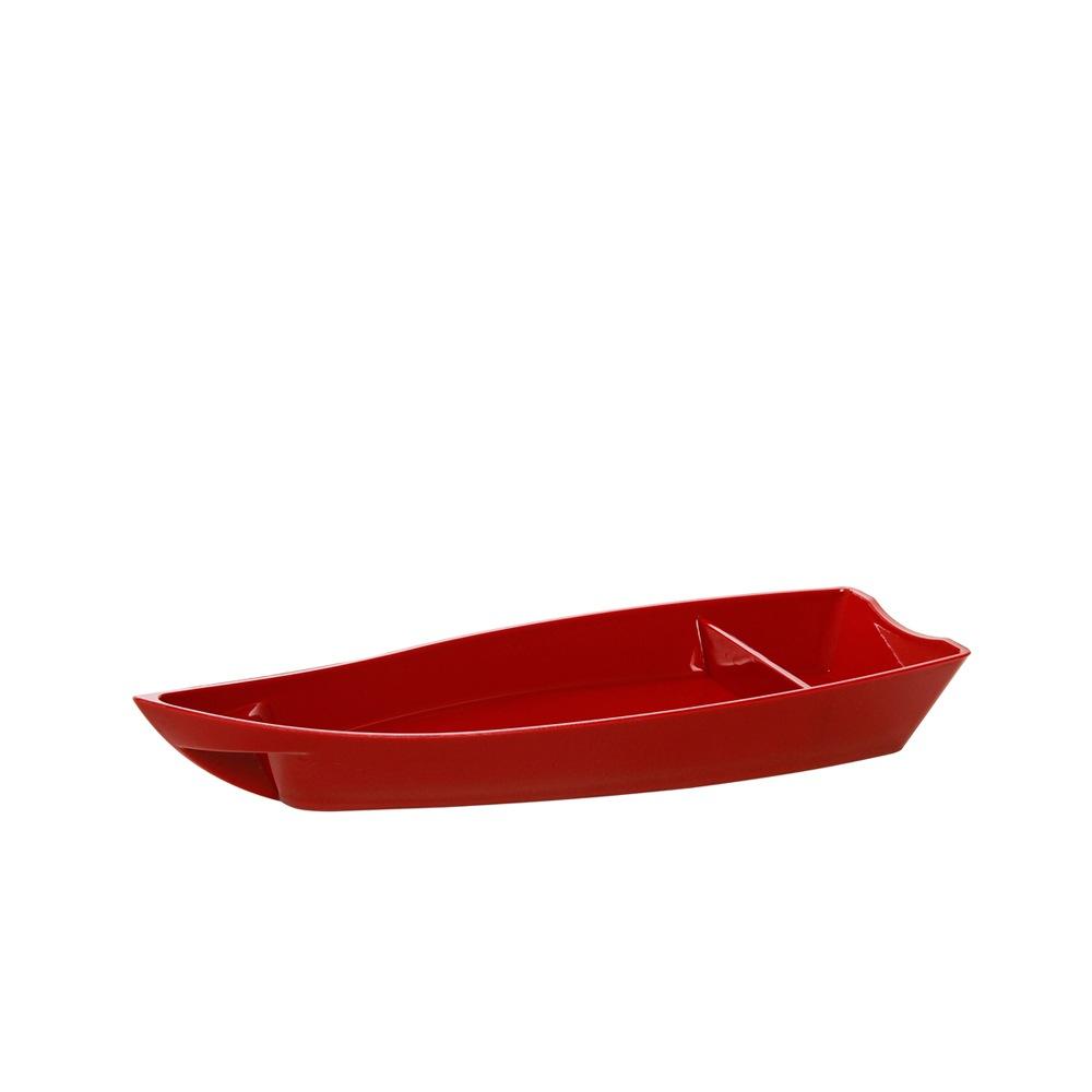 Barco para Sushi Grande de Policarbonato Vermelho Vemplast