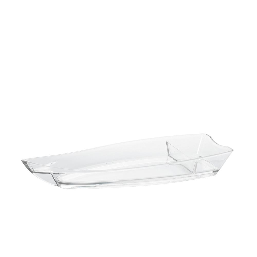 Barco para Sushi Medio de Policarbonato Natural Vemplast