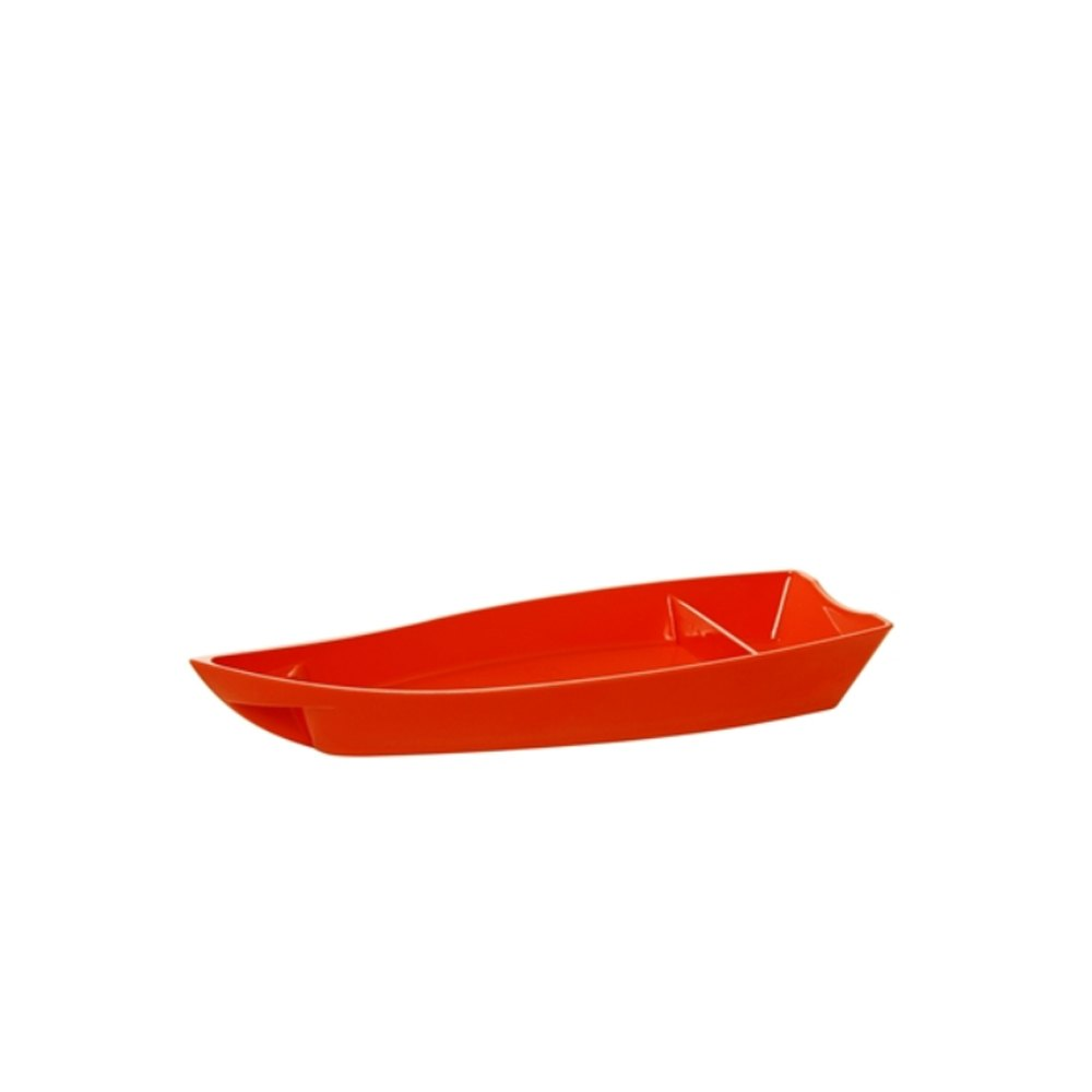 Barco para Sushi Pequeno de Policarbonato Laranja Vemplast