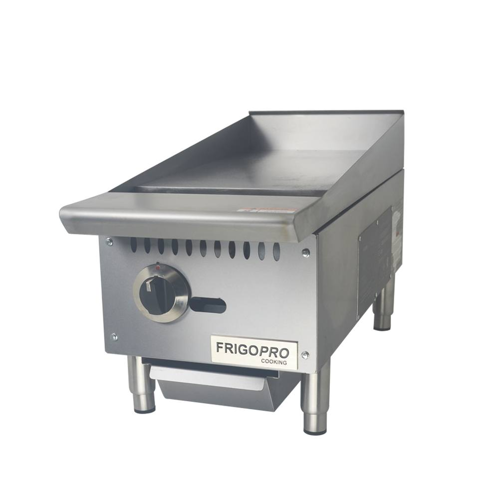 Chapa para Lanches a Gas 1 Queimador Profissional 30x74 cm FrigoPro