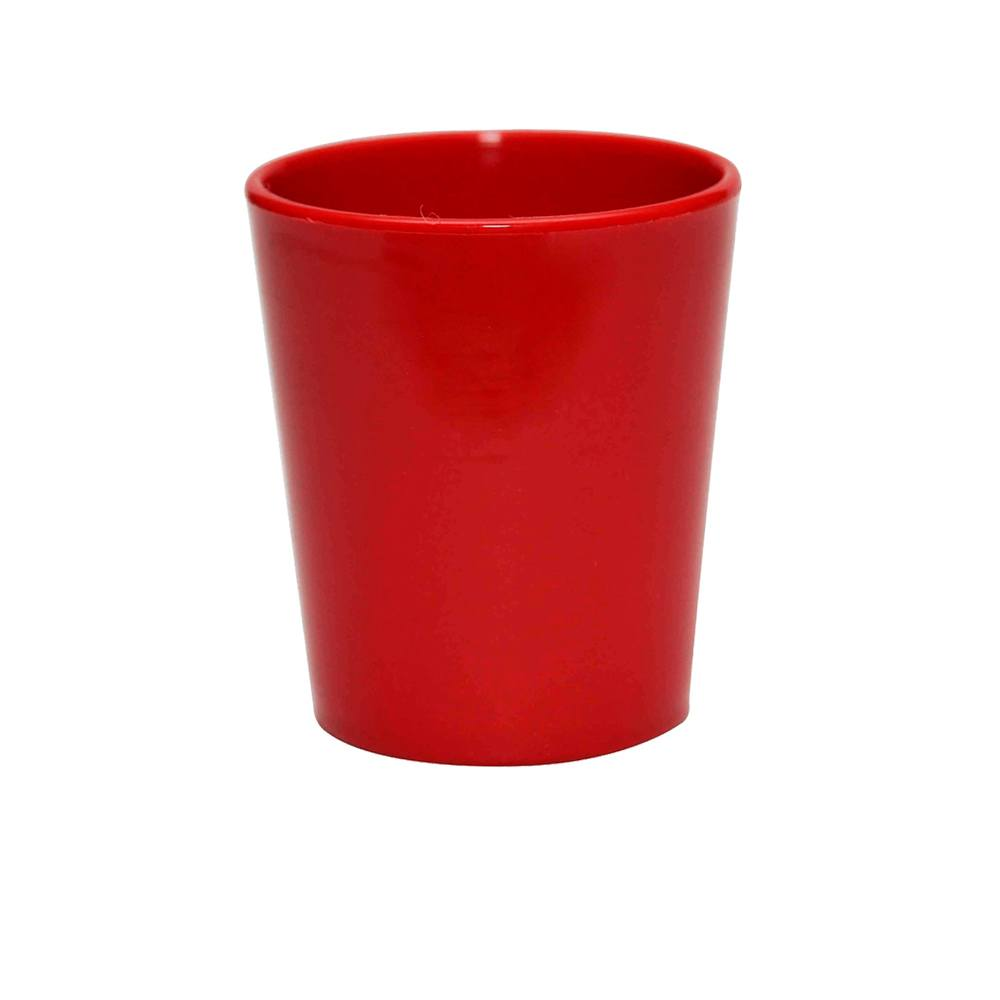 Copo Fresc 200 ml de Polipropileno Vermelho Vemplast