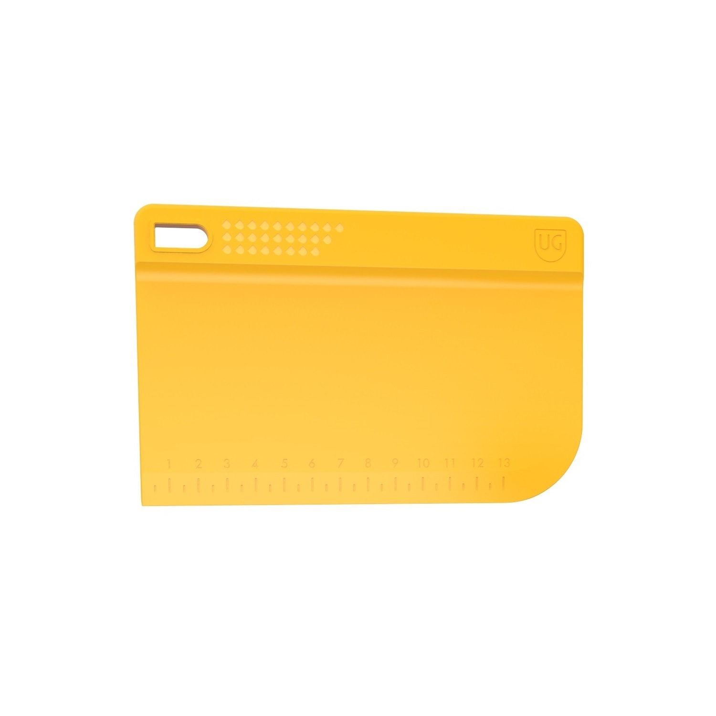 Espatula para Bolo Raspador Amarela de Polipropileno com Régua Anodilar