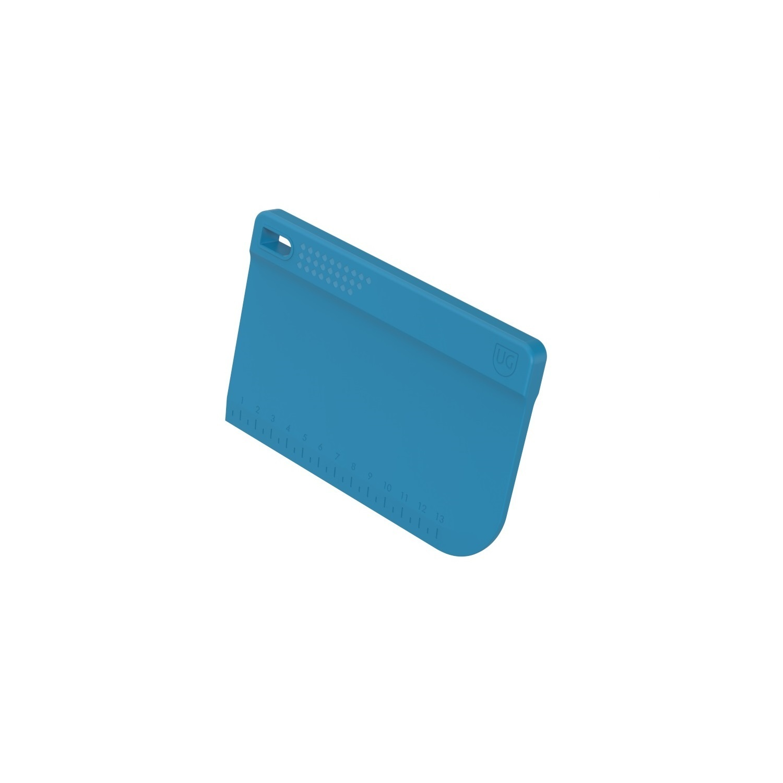 Espatula para Bolo Raspador Azul de Polipropileno com Régua Anodilar