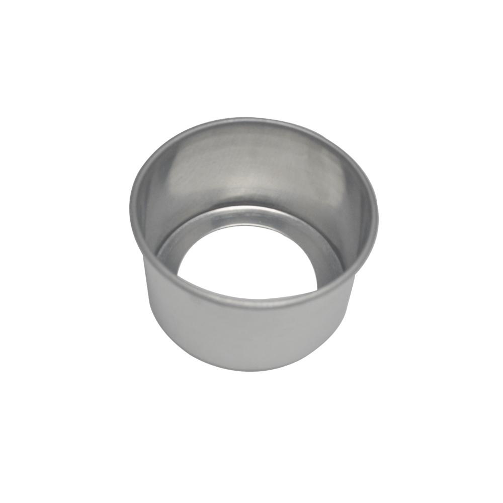 Forma de Bolo Redonda Fundo Falso de Aluminio Reta 11x7 cm Doupan