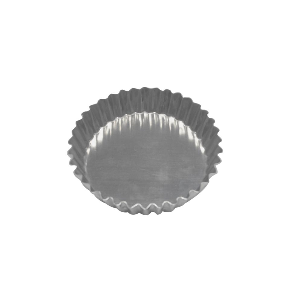 Forma para Torta de Alumínio Crespa Fixa 11x2 cm Doupan
