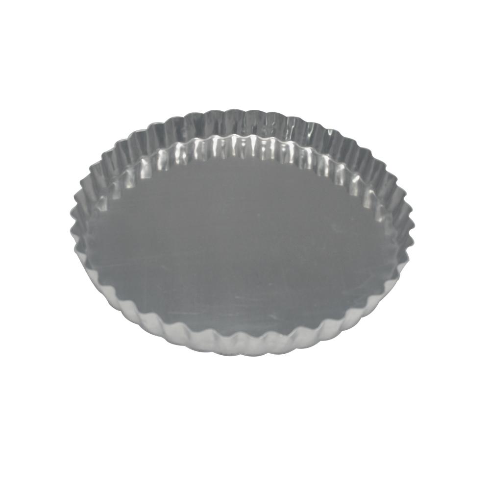 Forma para Torta de Alumínio Crespa Fixa 21x2 cm Doupan