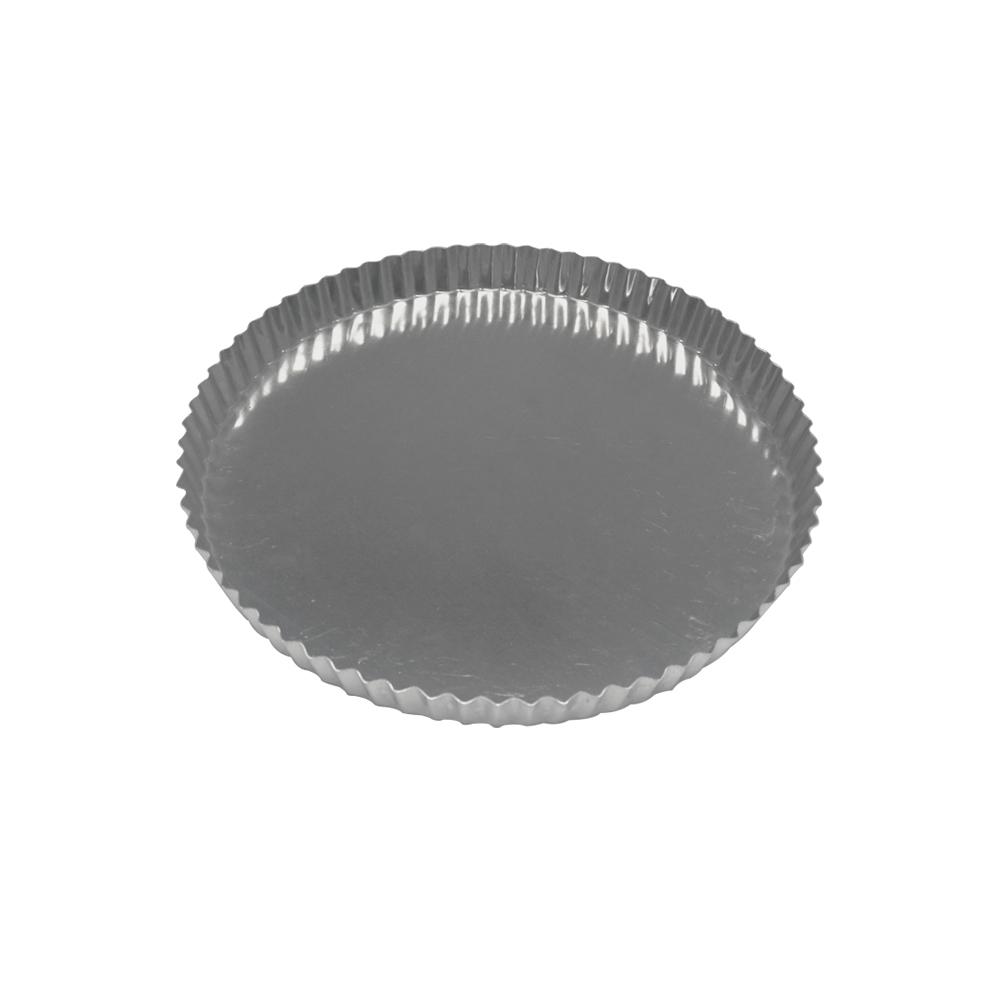 Forma para Torta de Alumínio Crespa Fixa 25x2 cm Doupan