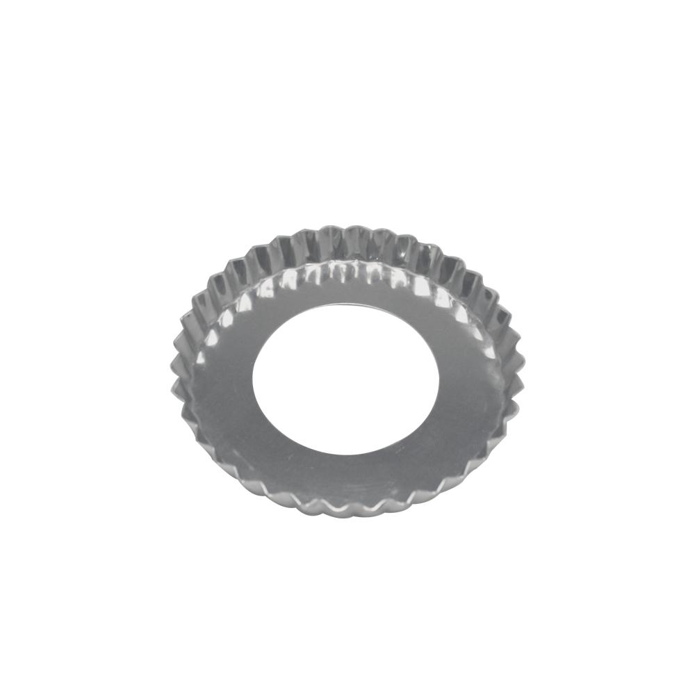 Forma para Torta de Alumínio Fundo Falso Crespa 13x2 cm Doupan