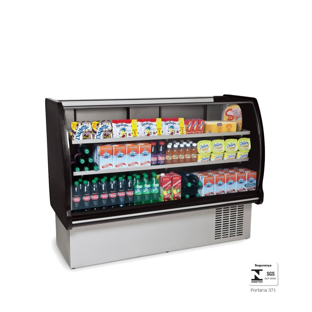 Balcão Refrigerado Expositor  1,1 Metros Preto Placa Fria BRP110 - Conservex