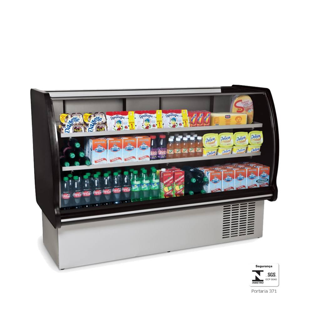 Balcão Refrigerado Expositor  1,65 Metros Preto Placa Fria BRP165 - Conservex