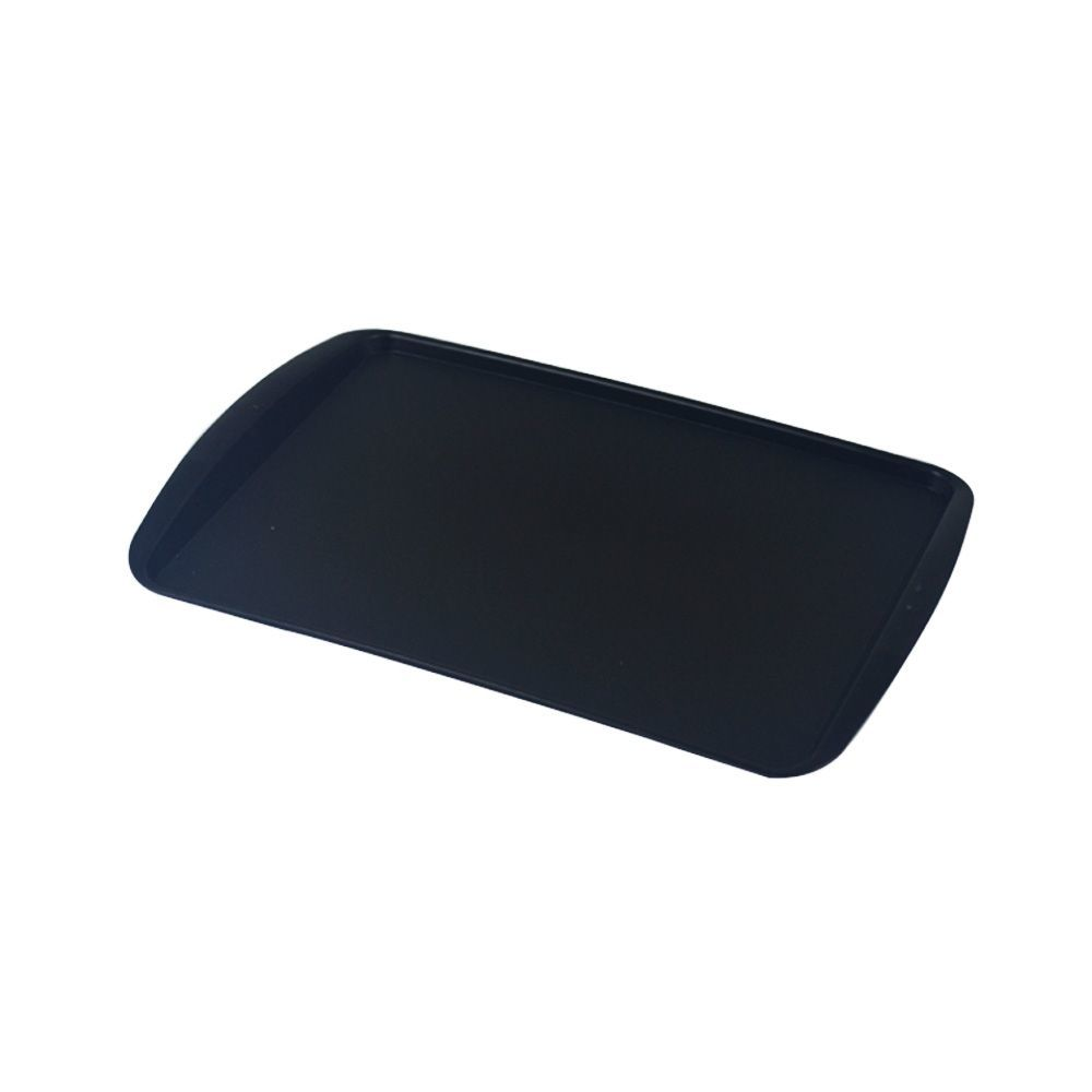 Bandeja Plástica Preta para Cafeteria e Doceria 34x23 cm S200 Kit 50 pçs