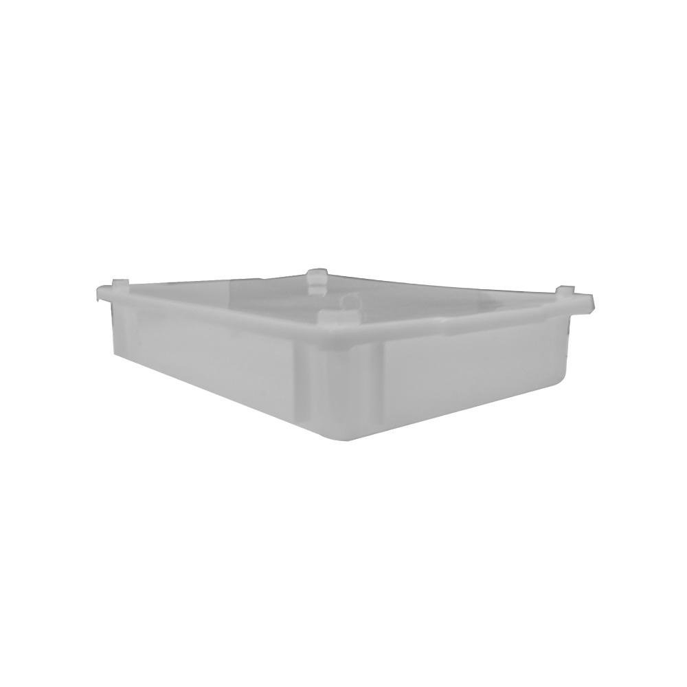 Caixa Plástica Branca Empilhável com Tampa 41X29X6 cm de 6,5 Litros S250