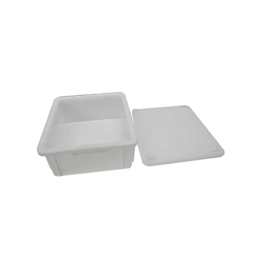 Caixa Plástica Branca Empilhável com Tampa 43X34X14 cm de 15 Litros S600