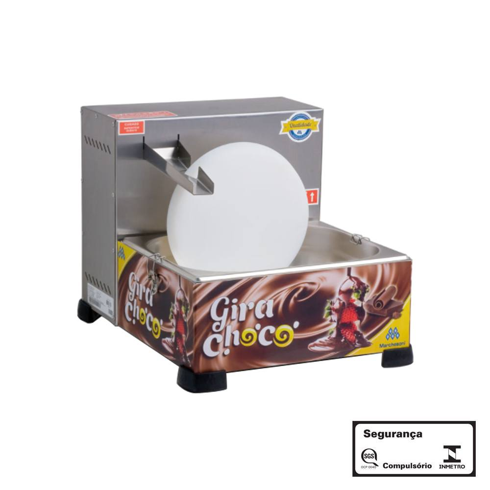 Derretedeira de Chocolate Gira-Choco Marchesoni 1 Roda 5 Kg 110v