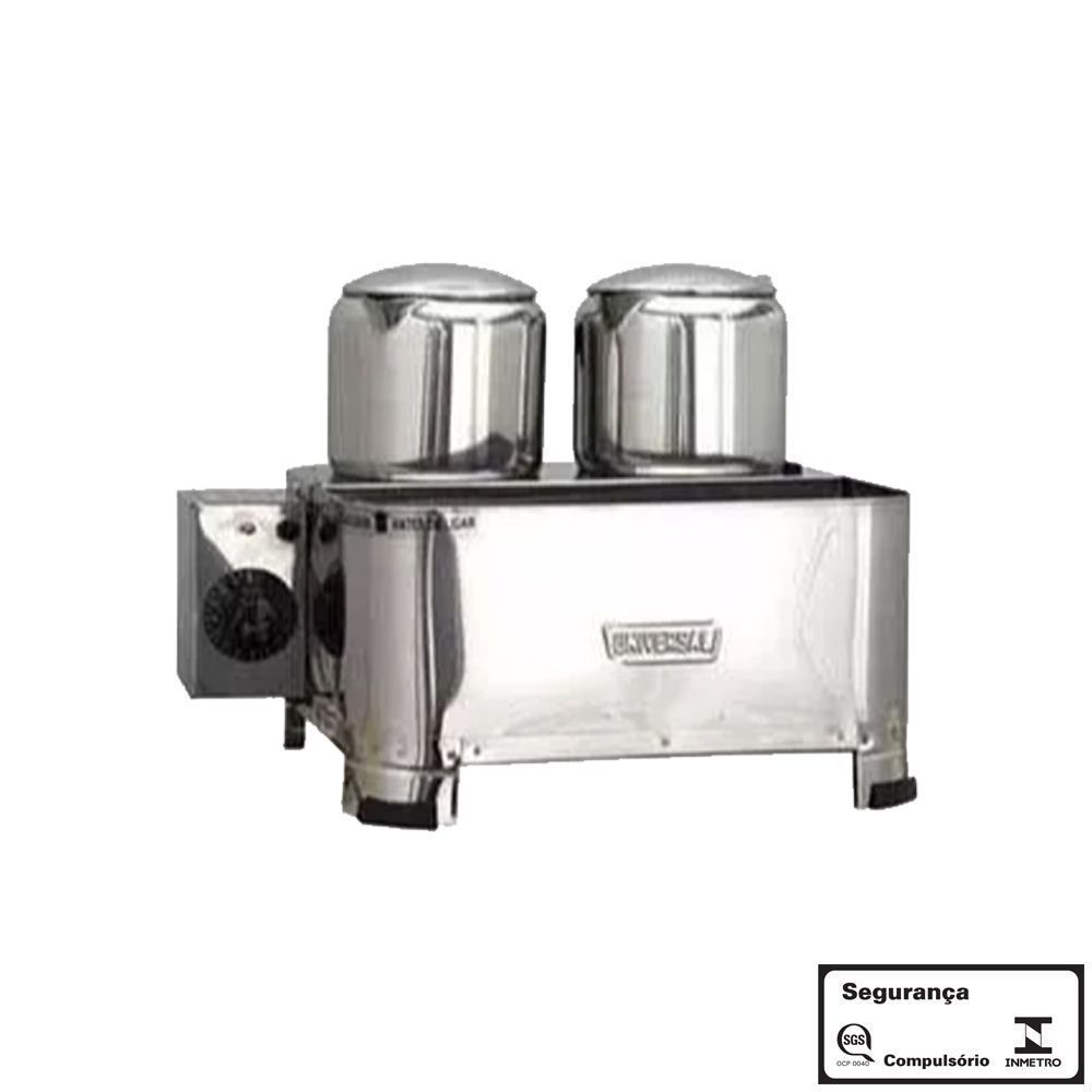 Esterilizador 2 Bules Aço Inox Luxo Eletrico 220v com Termostato Universal