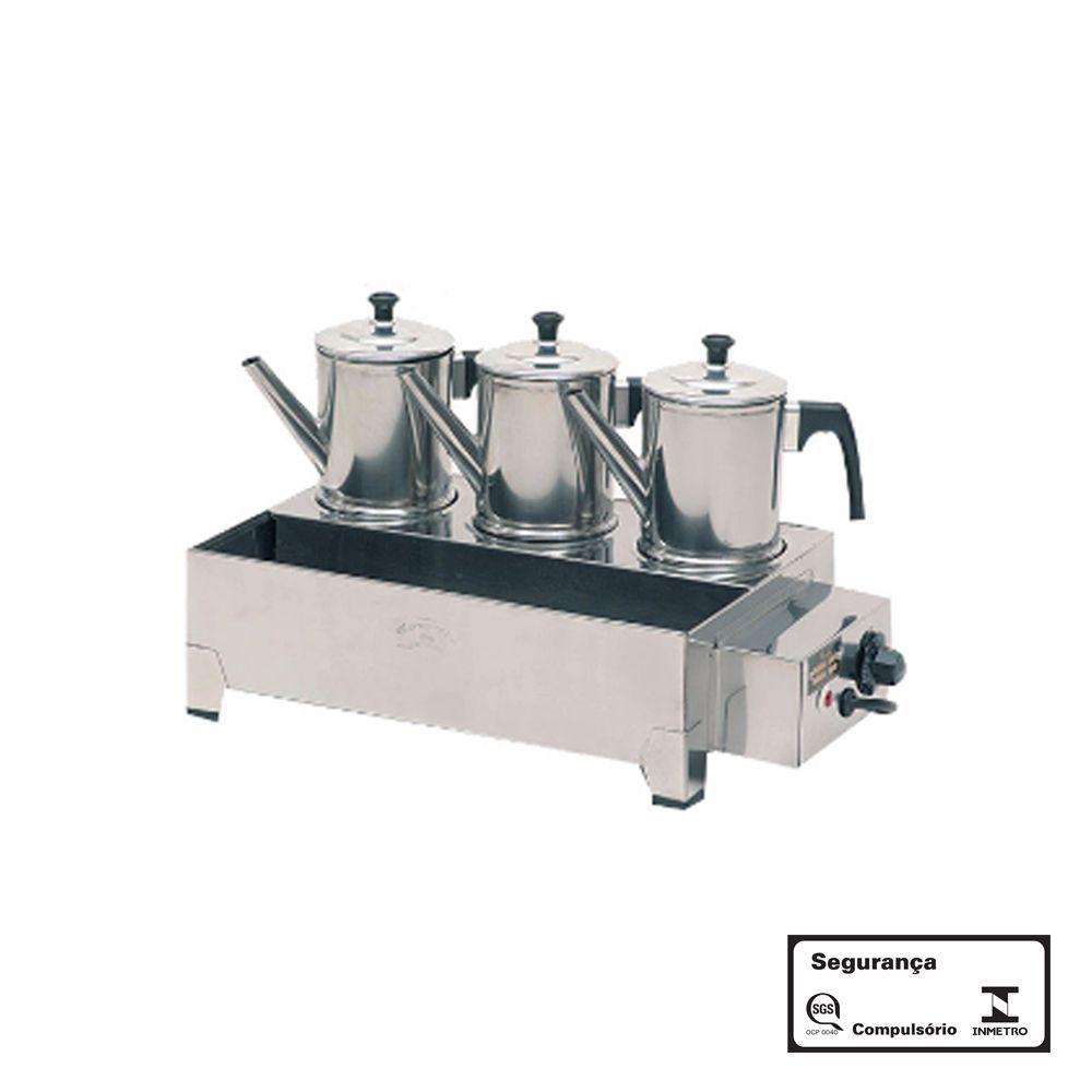 Esterilizador 3 Bules Aço Inox Elétrico 220V com Termostato Monarcha