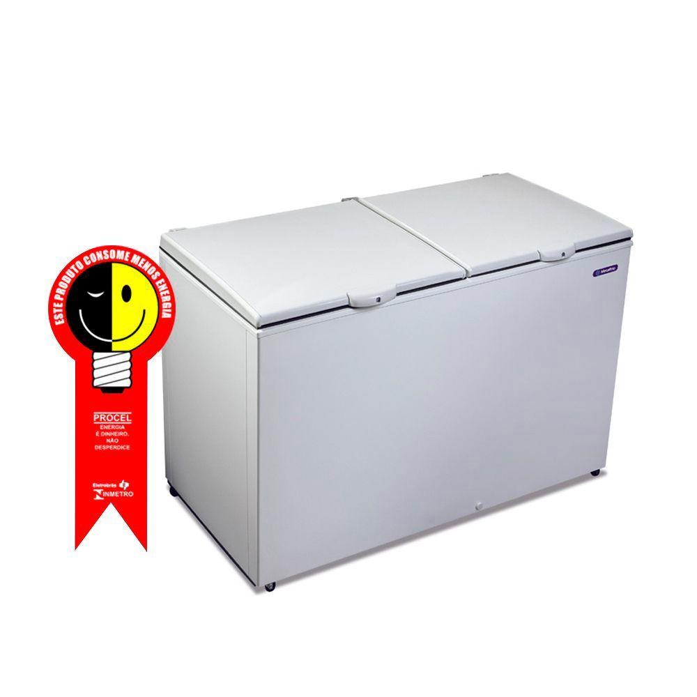 Freezer Horizontal Metalfrio 419 Litros com 2 Tampas Cega 220V - DA420