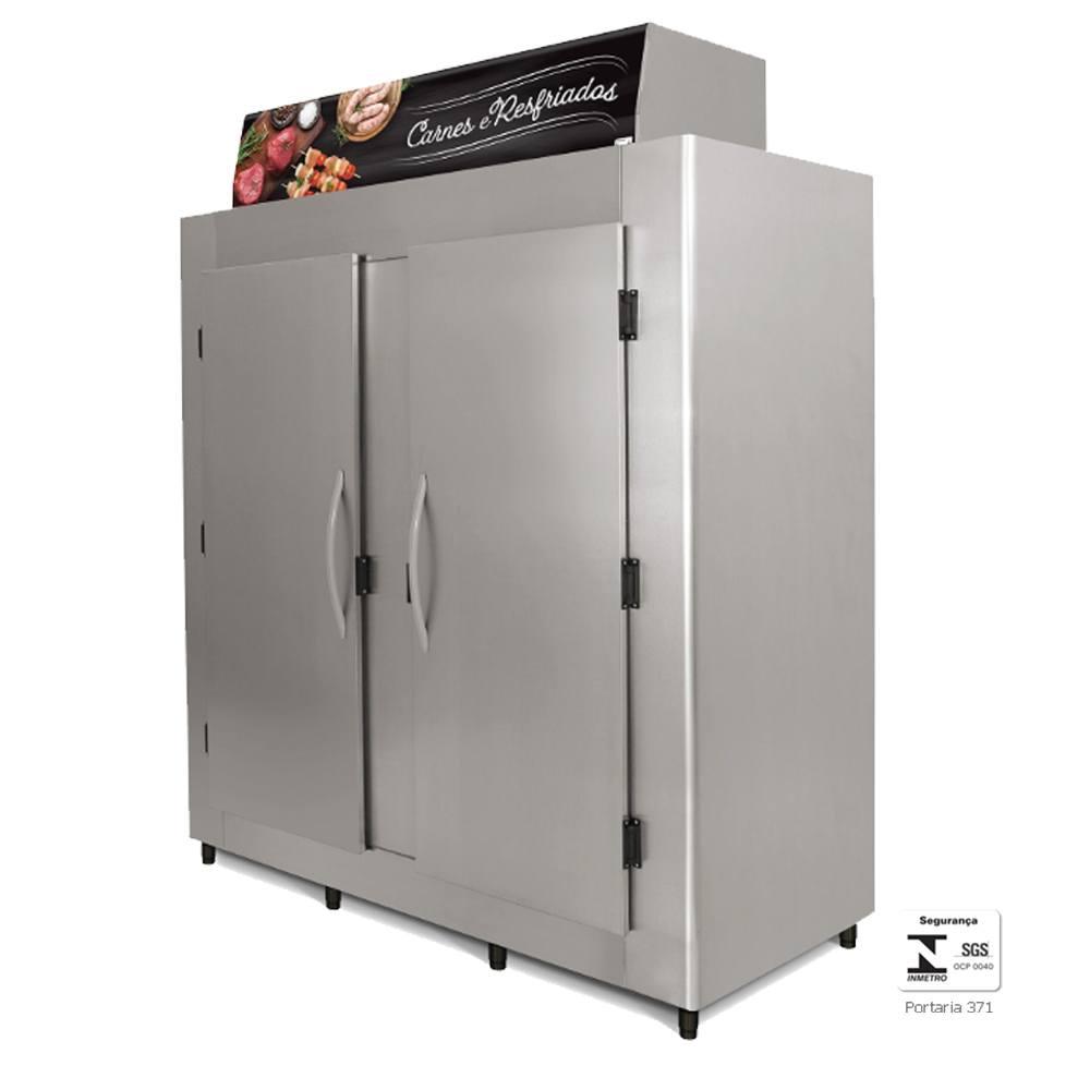 Geladeira Comercial Aço Inox para Açougue 2000 Litros Gancheira - RA2000 Conservex