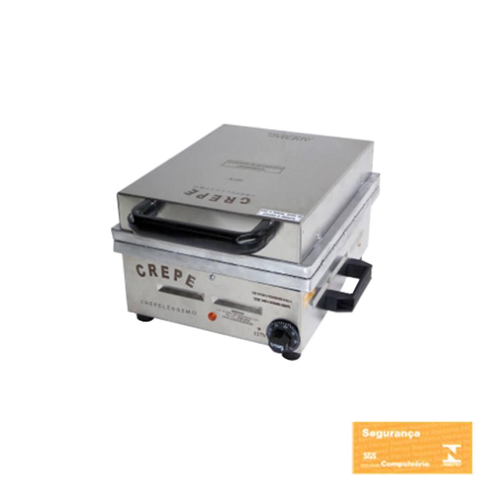 Máquina de Crepe Suíço Profissional Ademaq 12 Cavidades 220 V