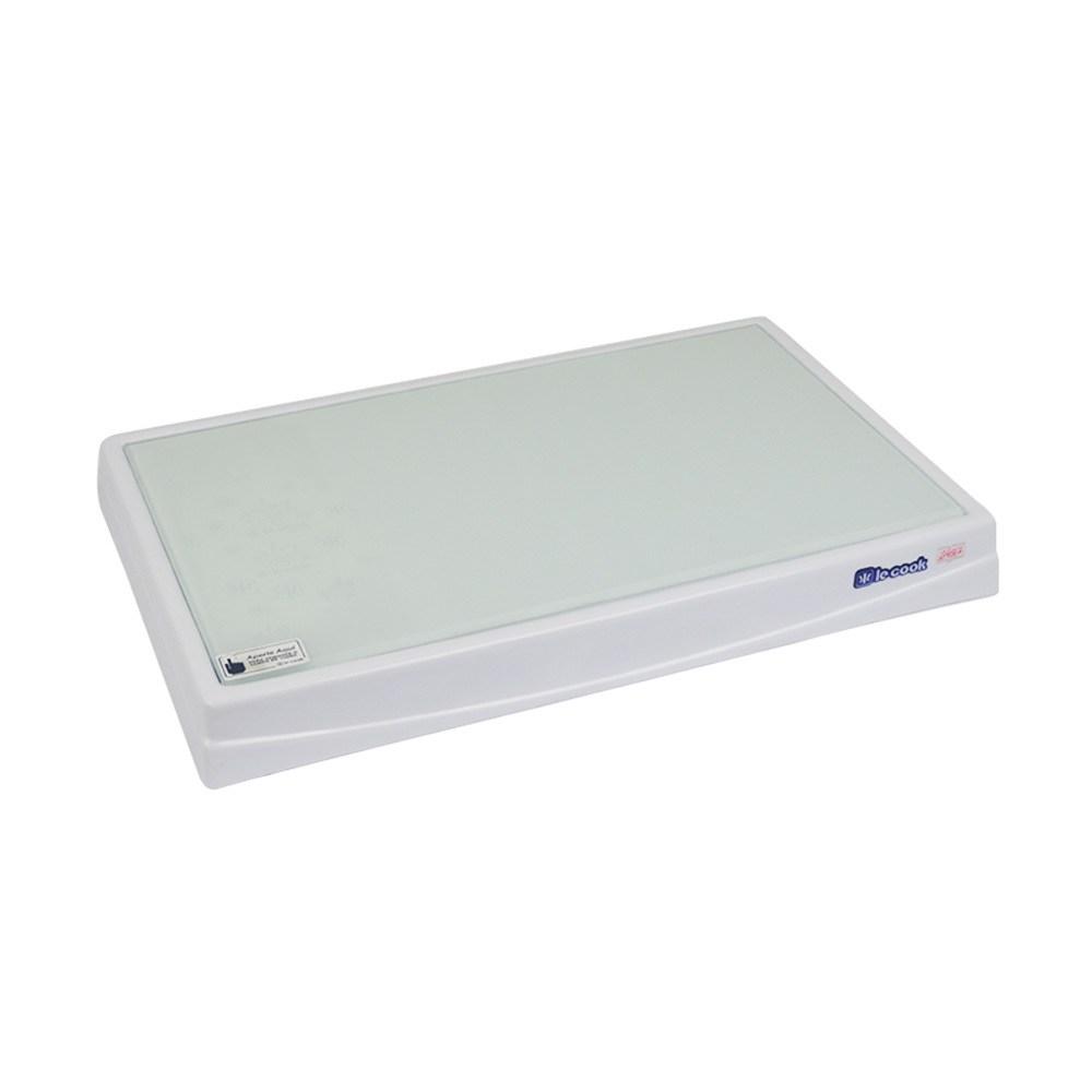 Mesa Térmica Fria Branca com Vidro Temperado  - Marcamix