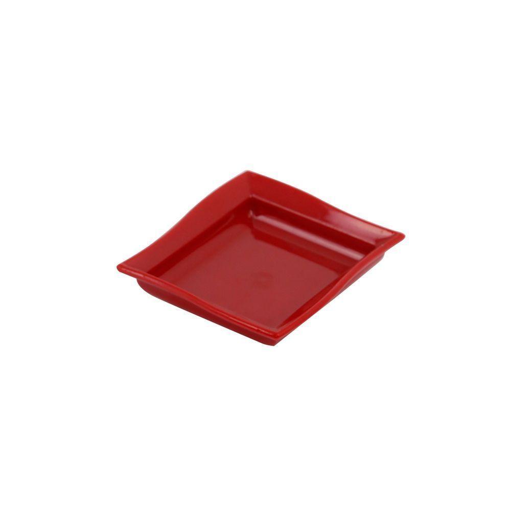 Molheira para Shoyu 60 ml Vermelha de Policabonato Vemplast