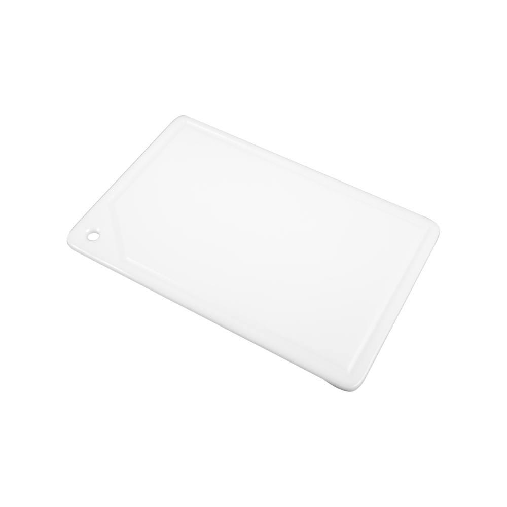 Placa de Corte com Canaleta em Polietileno Branca 1 Face 1X30X50 cm Pronyl 107