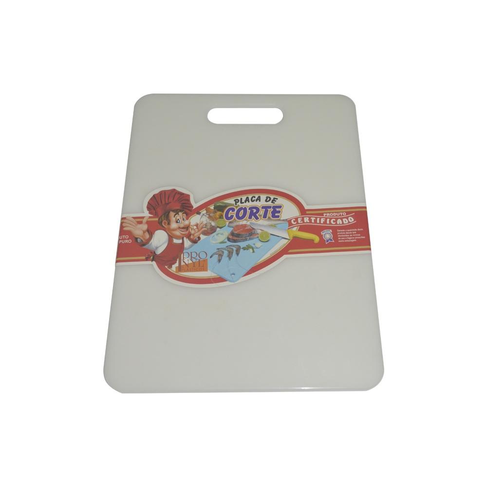 Placa de Corte com Pegador Caipirinha Branca 0,6X24X32 cm Pronyl 100