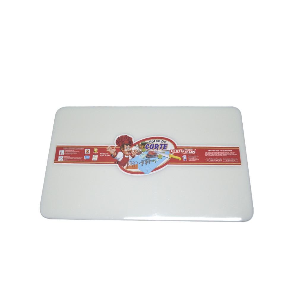 Placa de Corte em Polietileno Branca 1X30X50 cm Pronyl 111