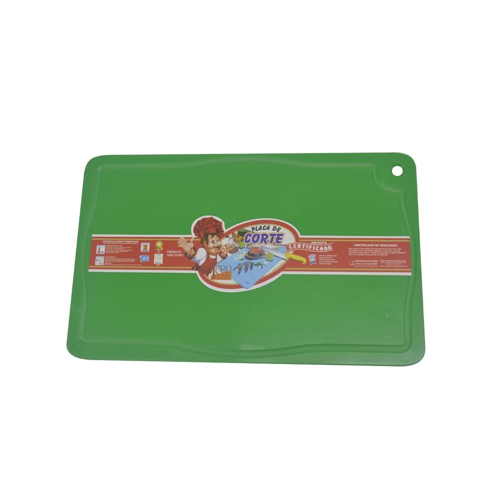 Placa de Corte Verde com Canaleta em Polietileno 1,5X25X37 cm Pronyl 127