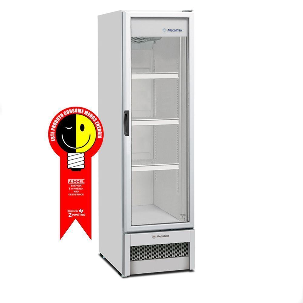 Refrigerador Metalfrio Vertical 324 Litros Porta de Vidro 220V - VB28RB