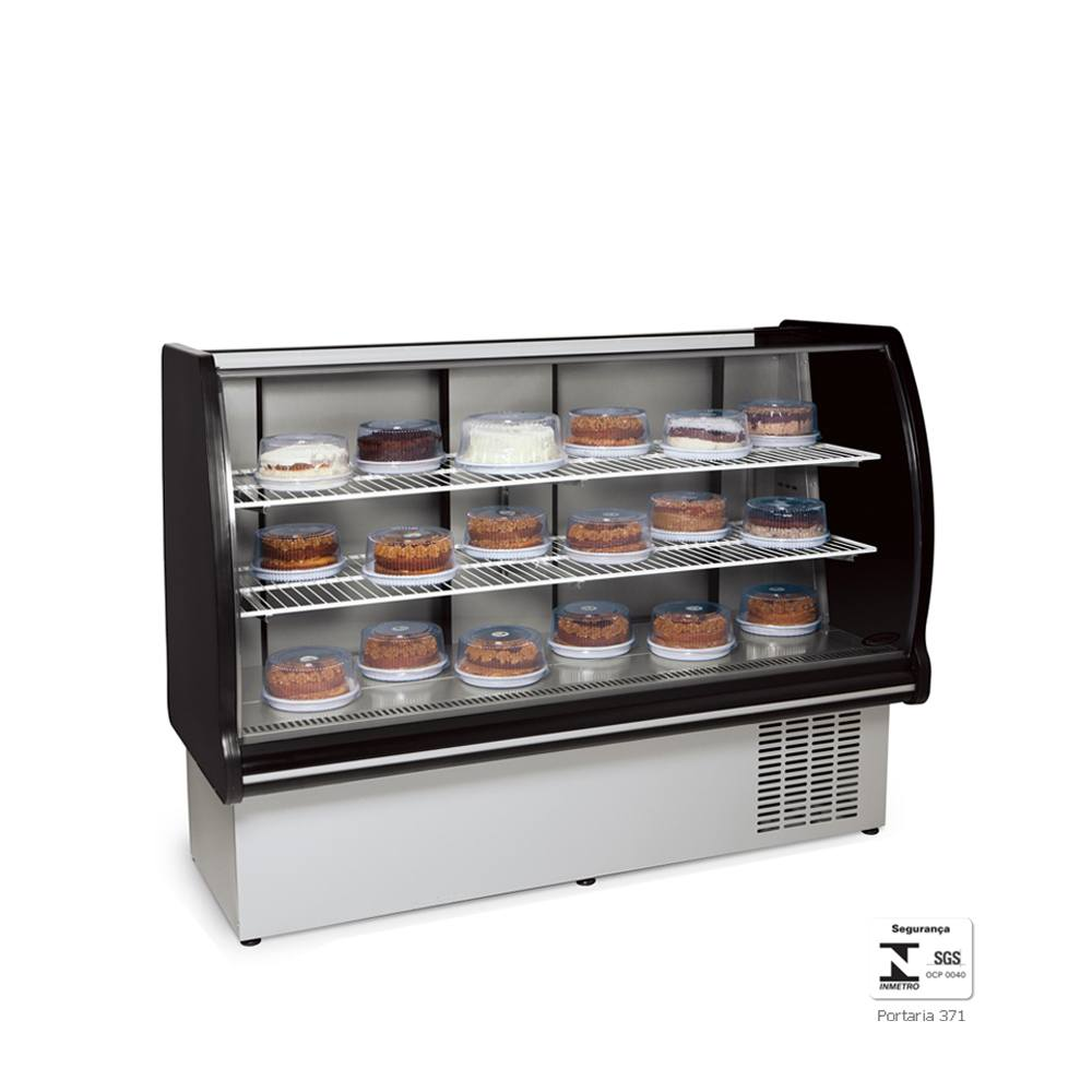 Vitrine Refrigerada Expositora 1,1 Metros Preta VRP110 - Conservex