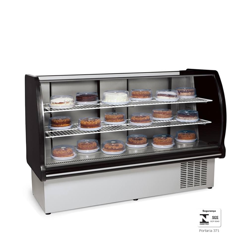 Vitrine Refrigerada Expositora 1,65 Metros Preta VRP165 - Conservex