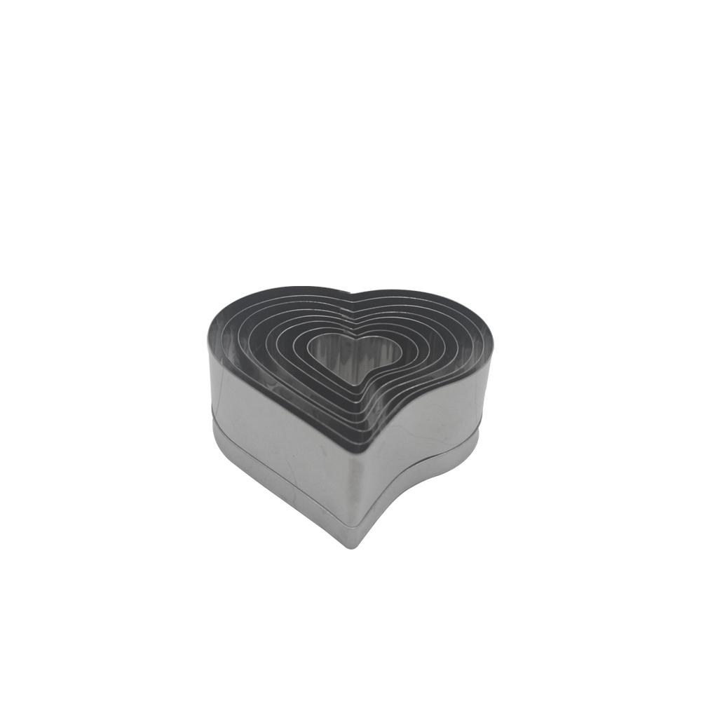 Jogo de Coração Cortador de Inox 8 pçs Doupan