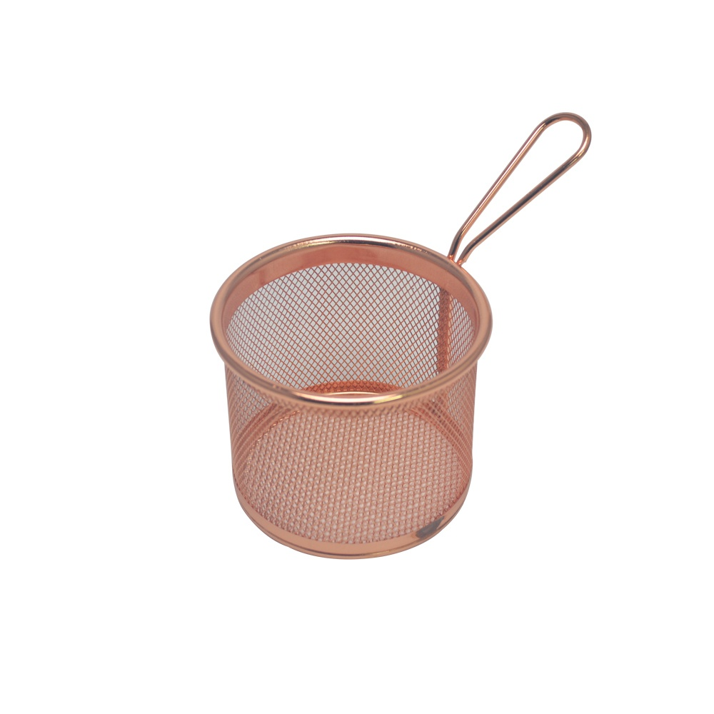 Mini Cesto para Fritura em Aço Inox Cobre 11x9 cm Frigopro