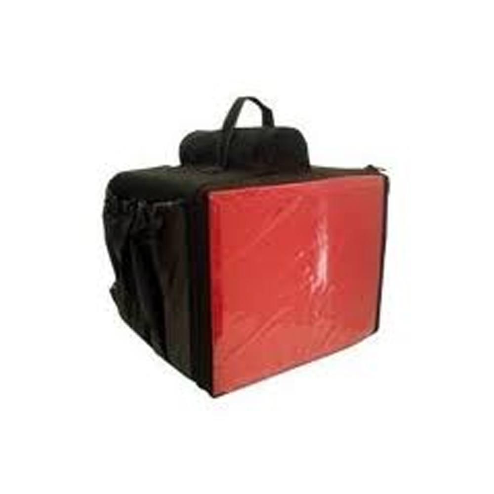 Mochila Térmica Motoboy Vermelha para Pizza de 35 cm 45x45x35cm Ninja