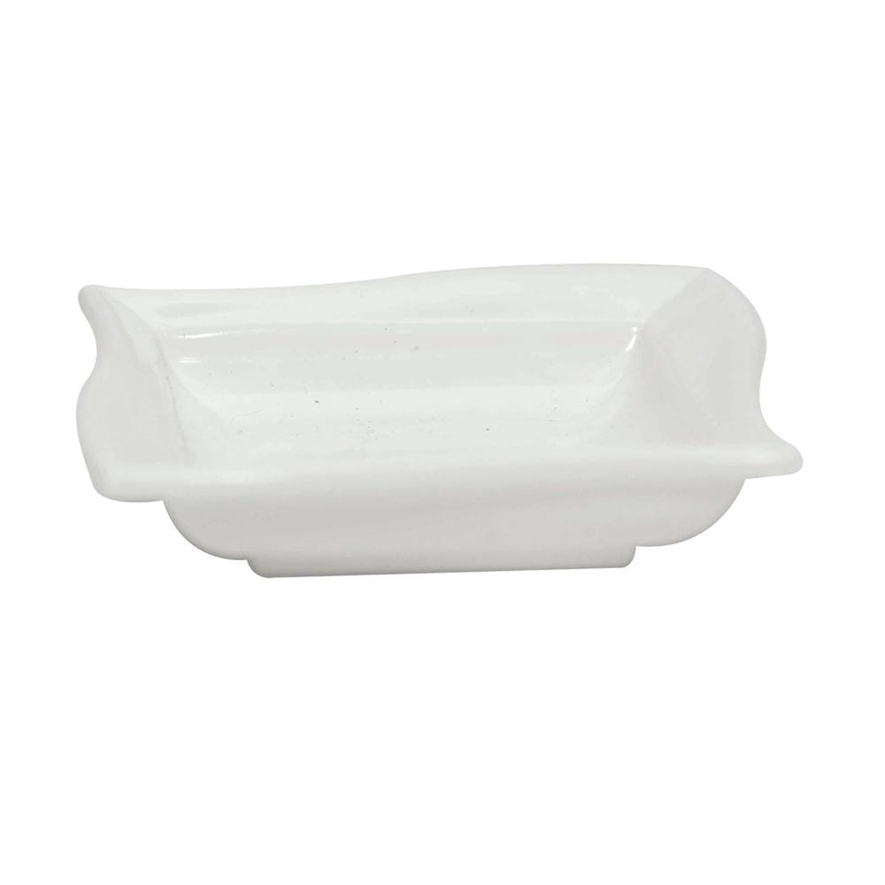 Molheira Shoyu 60 ml de Polipropileno Branca Vemplast