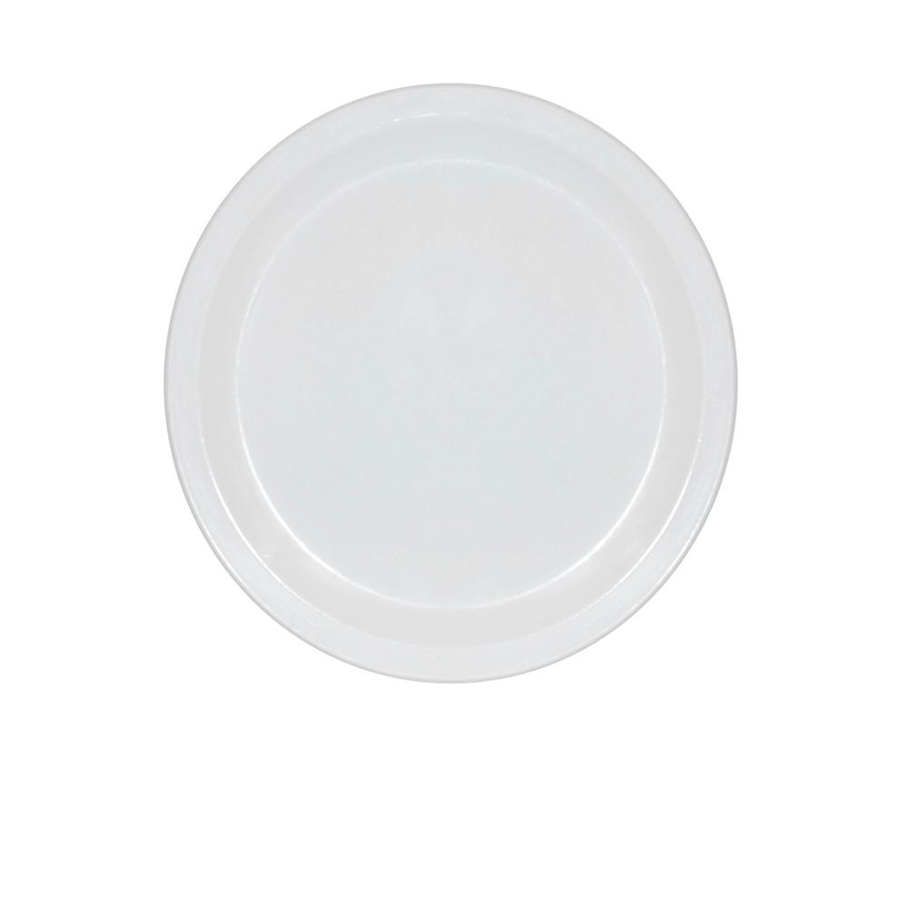 Prato Ellegance 19 cm de Policarbonato Branco Vemplast