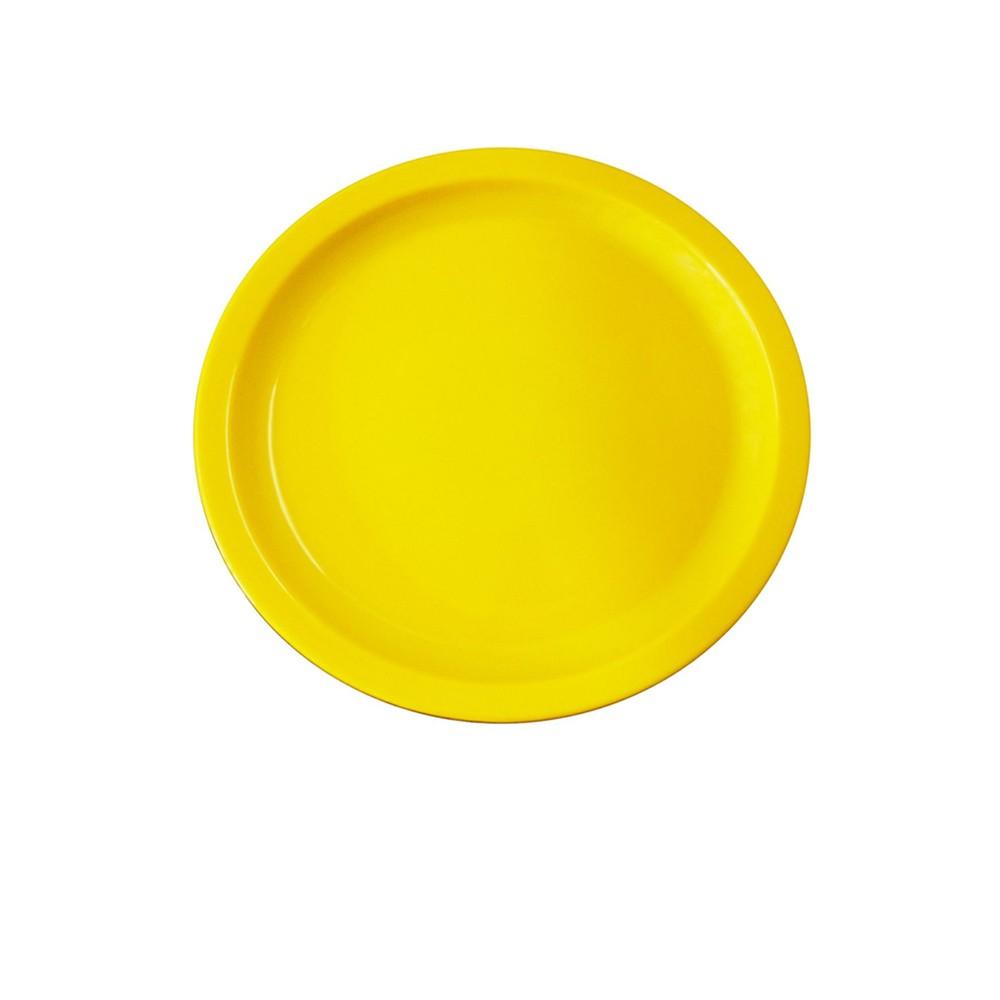 Prato Ellegance 19 cm de Polipropileno Amarelo Vemplast