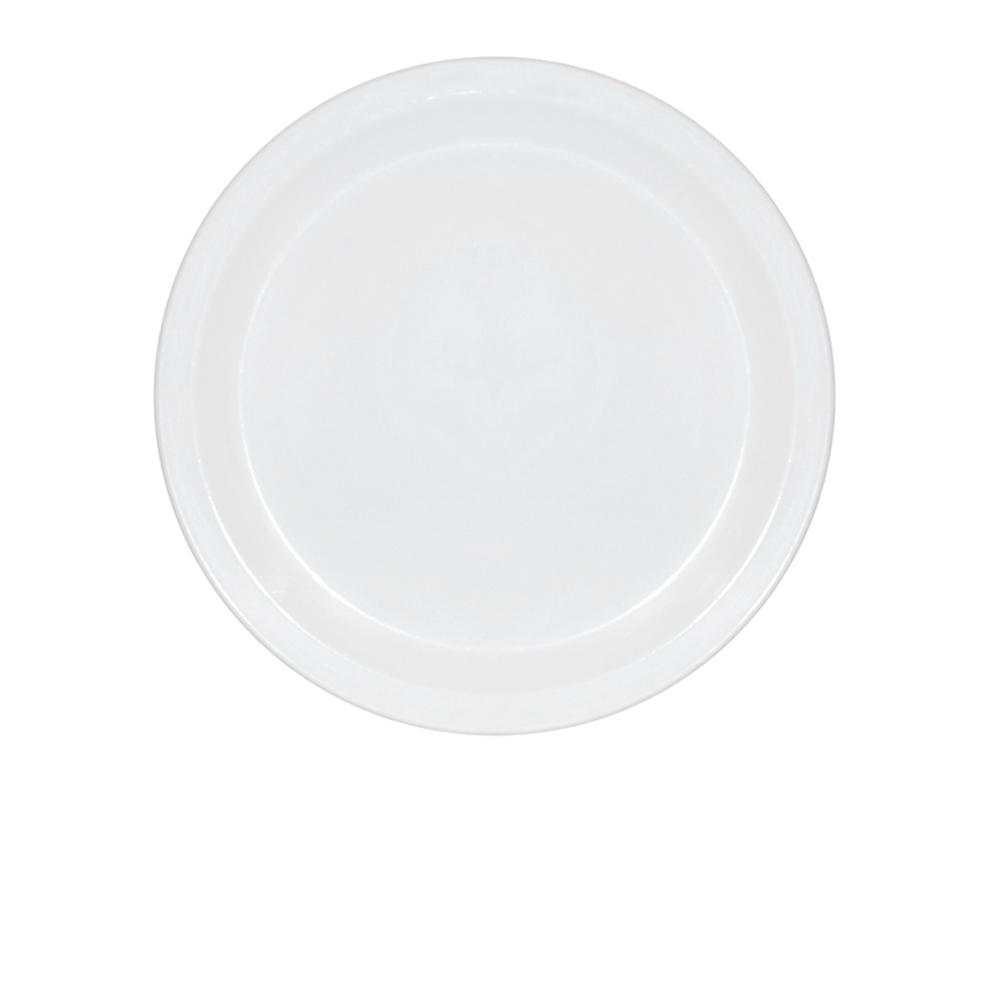 Prato Ellegance 25 cm de Policarbonato Branco Vemplast