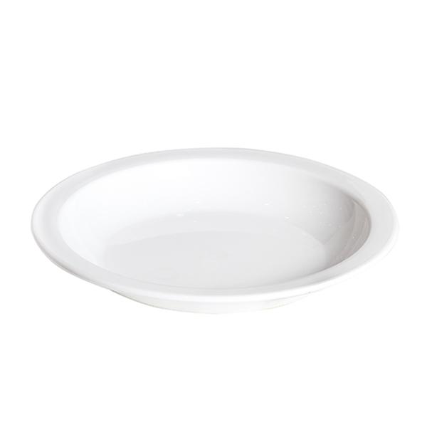 Prato Fundo 22 cm Branco de Policarbonato Elegance Vemplast