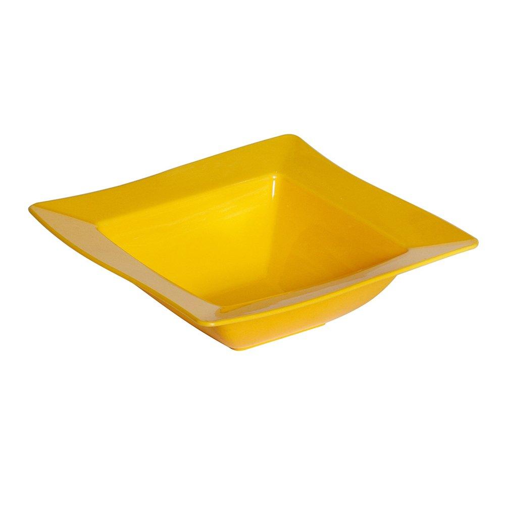 Saladeira Moove Pequena de Polipropileno Amarelo Vemplast